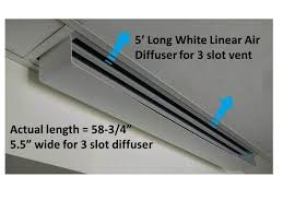 Drop Ceiling Vent Deflector by Linear Air Diffuser Linear Air Diverter Ceiling Air Vent