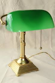 Green Bankers Lamp History by Vintage Brass Table Lamps