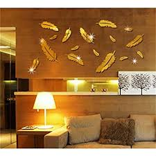 feder 3d spiegel wand aufkleber ausgangsdekor kunst abziehbild wand aufkleber for kinderzimmer wohnzimmer dekorieren wandschmuck spiegel wandaufkleber