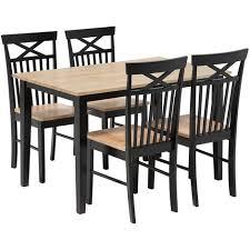 essgruppe esszimmer set tisch 4 stühlen schwarz mit braun