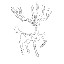 Legendary Pokemon Coloring Pages Xerneas