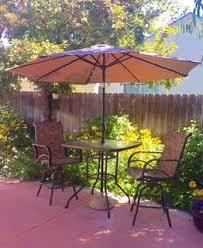 Patio Umbrellas Walmart Usa by 9 U0027 Deluxe Solar Powered Led Lighted Patio Umbrella Tan Walmart Com