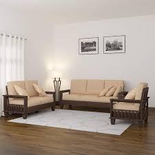 100 2 Sofa Living Room MAMTA DECORATION Solid Sheesham Wood Set Furniture For 31 Walnut Brown