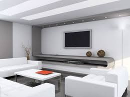 Clean Modern Living Rooms And Technology For It