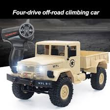100 Fast Electric Rc Trucks B 14 116 24GHz RC Crawler Off Road Military Truck Car With