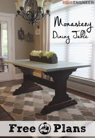 Wood Kitchen Table Plans Free by Monastery Dining Table Free Diy Plans Rogue Engineer