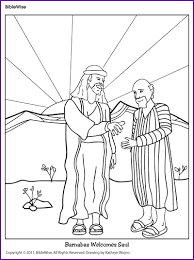 Coloring Barnabas Welcomes Saul