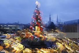 The According To Organisers Biggest Christmas Tree In World Illuminates Market