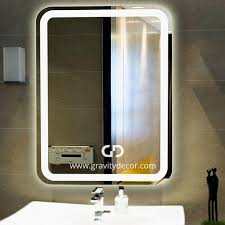 the rounded wall mounted vanity mirror with led