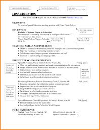 Resume Samples For Yoga Teachers Best Of Education Examples Elementary New Teacher Sample