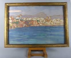 World Market Luxe Sofa Slipcover Ebay by Peinture Village Impressionniste Espagnol Aout 1930 Signe Charles