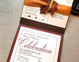 Fall Wedding Invitation B Leaf In Love Autumn