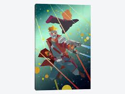 Guardians Geometric Star Lord Comic By Marvel Comics 1 Piece Canvas Artwork