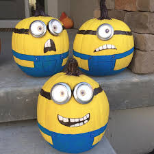 Minion Pumpkin Carvings by 25 No Carve U0026 Painted Pumpkin Ideas A New Trend Of Halloween 2015