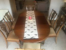 Dining Table With 6 Chairs - Antique 1900-1940s Mahogany Extendable Table  With Ball & Claw Feet' | In Hertford, Hertfordshire | Gumtree