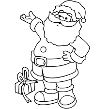 Christmas Coloring Pages Printable Santa Claus Inside