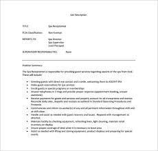 Spa Receptionist Resume Samples Jobhero