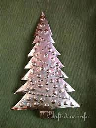 Metal Christmas Tree Embossed Ornament Trees Uk