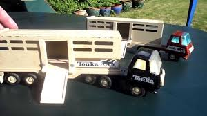 RARE 1970'S TONKA TOYS VINTAGE HORSE TRANSPORTER TOY TRUCK - YouTube Toy Trucks Tonka Metal Welcome To East Texas Tonka Garage Rusty Gold 1962 Truck Cars Vintage Toys Tipper Truck Was Sold For R25000 Old Vtg Antique Usa Airforce Jeep With White Wall Toys In Shiremoor Tyne And Wear Gumtree I Restored An My Son 6 Steps With Pictures N0 308 Stake Pickup Box And Matching Trailer Value Vintage Tonka Trucks Collectors Weekly Car Carrier Sale Ebay