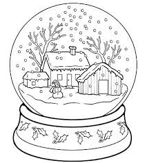 Winter Coloring Pages For Preschool Color Printable Clothes Sheets