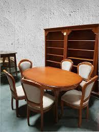 esszimmer selva classic serie kirsche tisch mit 6 stühlen