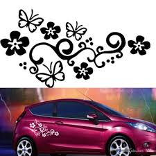 2018 Waterproof Universal Flower And Butterfly Car Sticker Pvc For