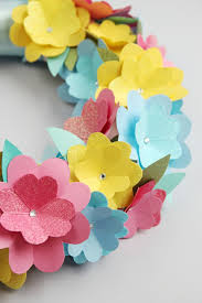 Cardmaking Ideas Spring Wreath Making Colored Paper