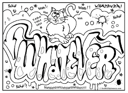 Graffiti Coloring Page Free Printable Room Signs Inside Pages
