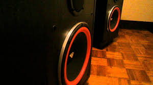 cerwin vega re 30 tower speakers bass head youtube