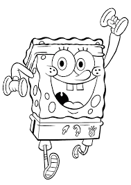 Training Spongebob Coloring Pages 2