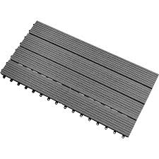 clearance shop 1 box of grey coloured composite decking tiles 1