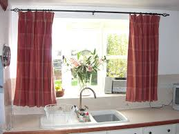 White Kitchen Curtains With Red Trim by Kitchen Curtains Red Checkered Cherry Curtain Is Embroidered