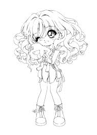 Printable Animal Coloring Pages For Adults Anime Characters Free Girl Print Full Size