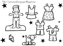 Dress Coloring Pages Clothes Kids Printables