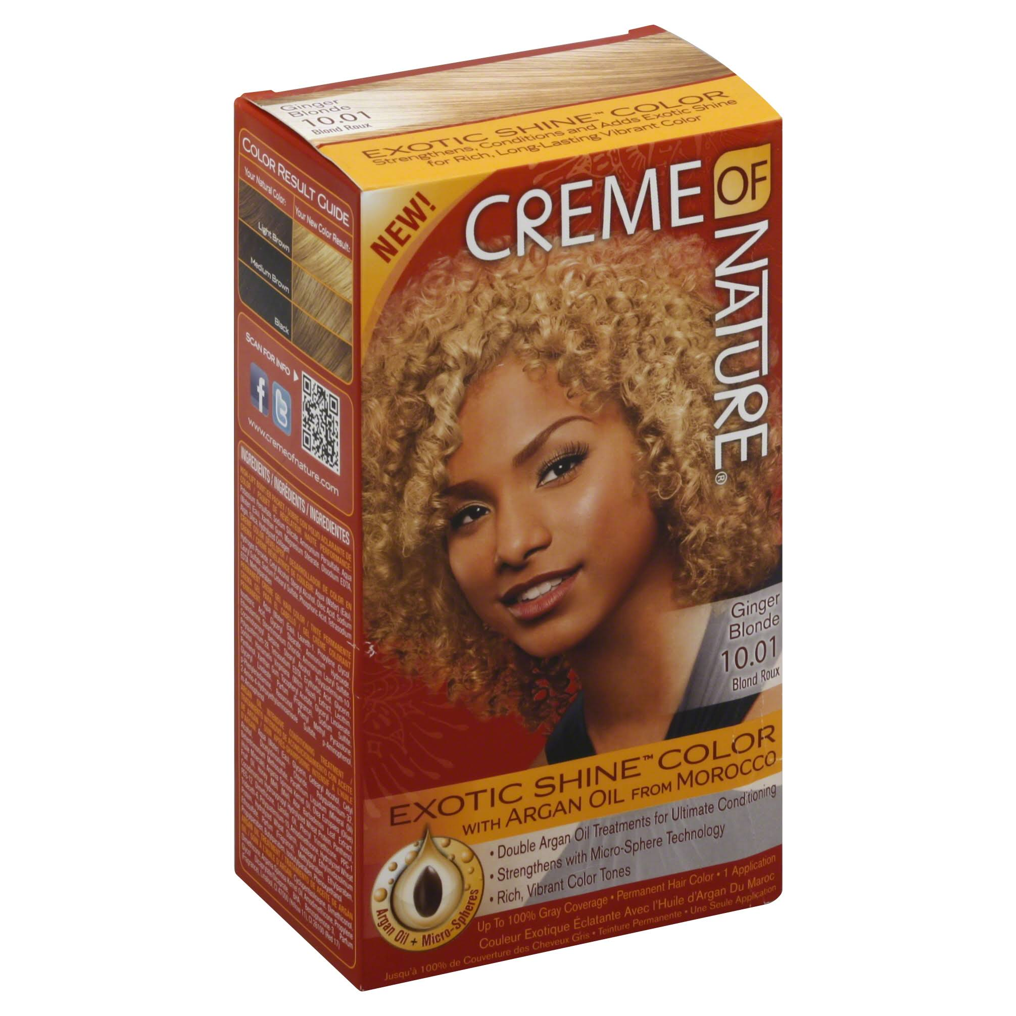Creme of Nature Exotic Shine Color - with Argan Oil, Ginger Blonde