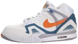 Outlet Factory Nike Air Tech Challenge II QS Retro Men Tennis Shoes White Orange Burst