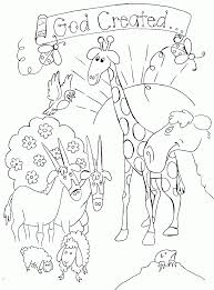 Bible Coloring Pages God Created