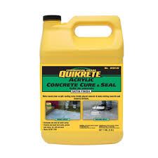Quikrete Garage Floor Epoxy Clear Coat by Quikrete 9 Lb Acrylic Concrete Cure And Sealer 1030861 The Home