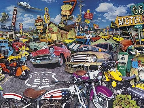 The Jigsaw Puzzle Factory Classic Cars - Bluewater Motel 750 Pieces