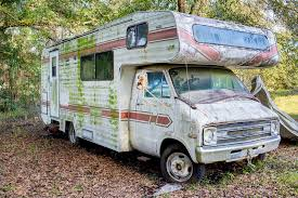 Download Abandoned RV Stock Image Of Scrap Vehicle Travel