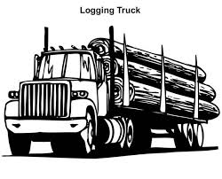 Print Logging Truck In Semi Coloring Page Full Size