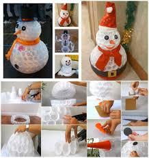 Plastic Cups Snowman Praktic Ideas