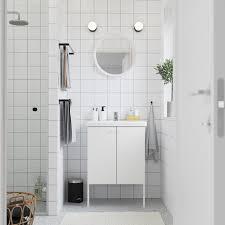 enhet tvällen خزانة الحوض مع بابين أبيض حنفية pilkån 64x43x87 سم