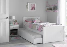 portland white bed frame with liv lou guest underbed painted
