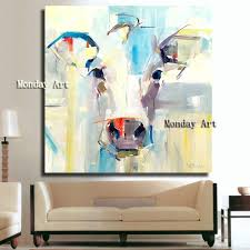 100 Pop Art Bedroom US 180 50 OFFhandpainted Canvas Painting Cow Oil Painting Wall Picture Wall Pictures Animal Painting For Living Room Bedroom No Framein