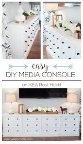Easy DIY IKEA Rast Hack Media Console wtih tons of storage