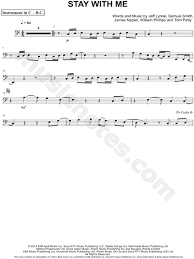 Stay With Me Bass Clef Instrument sheet music by Sam Smith