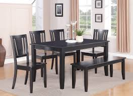 Black Dining Table Bench Room Benches That Make From Wood With Clear