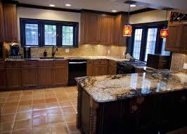 With Rustic Blue Kitchen Cabinets White Wood Floors Ideas Vaulted Ceiling And