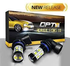 opt7 h10 cree led drl fog light bulbs all bulb sizes